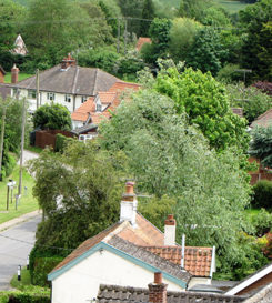 Bredfield viewed from above